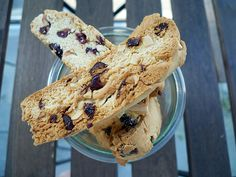 The perfect combination of crunchy and chewy in an almond & cranberry biscotti. An easy recipe that's quick & delicious.