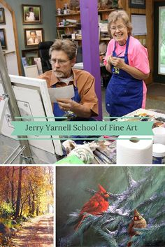 """If you've ever wanted to learn how to paint, consider taking a class with Jerry Yarnell, master painter and author of 13 books on painting instruction! Jerry opens his studio in Skiatook, Oklahoma by appointment for workshops, lessons and private showings at the Jerry Yarnell School of Fine Art. If Jerry looks familiar, you may have seen him painting up a storm on your local PBS station as host of """"Paint This with Jerry Yarnell."""""""