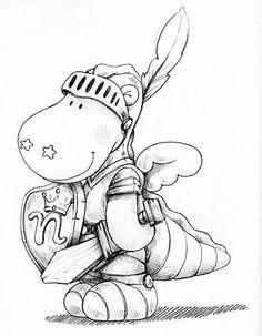 Victor le chevalier #dessin à #coloriage