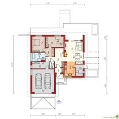 Projekt domu AC Astrid (mała) CE - DOM - gotowy koszt budowy Garage Plans, Malm, Floor Plans, How To Plan, Dreams, Home Plans, A Class, Modern, Floor Layout