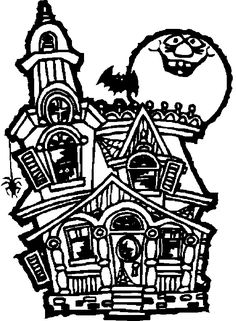 Haunted House Halloween Coloring Page FREE By JessiesJubilance