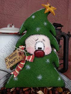 O. Tannen Baum Christmas Tree Pattern #130 - Primitive Doll Pattern by GingerberryCreek on Etsy https://www.etsy.com/listing/226691026/o-tannen-baum-christmas-tree-pattern-130