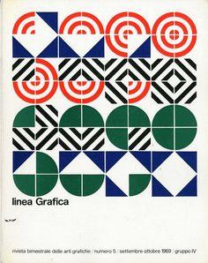 «Linea Grafica» 5/1969, Archivio/Fondo Alfredo Mastellaro. Cover by Pino Tovaglia