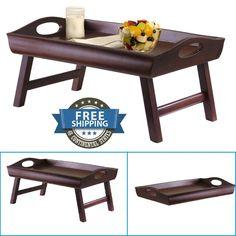 Office Furniture Good Portable Bamboo Wood Bed Tray Breakfast Laptop Desk Tea Food Serving Table Folding Leg Good Skillful Manufacture Laptop Desks