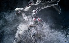 Download wallpapers Kratos, 2018 games, characters, Action-adventure