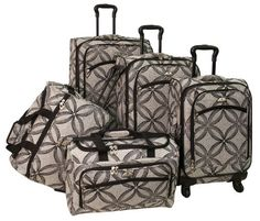 American Flyer Luggage Silver Clover 5 Piece Set Spinner, Black Gray, One Size American Flyer http://www.amazon.com/dp/B009R6X41K/ref=cm_sw_r_pi_dp_qsaaxb1X5Y415