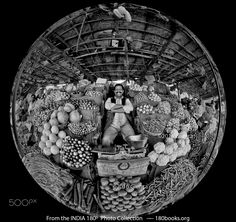 Vegetable and Fruit Vendor - This is another of my favorite portraits from India.  It just speaks of happiness and abundance to me.  At first, I couldn't imagine making this photo in black and white, but by tweaking the the filter and tonal curve I was able to get enough different tones in the vegetables to please myself.