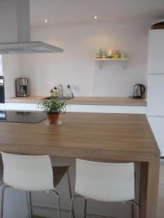 #diseño de #cocinas #linea3cocinas cocinas en #blanco y #madera #madrid