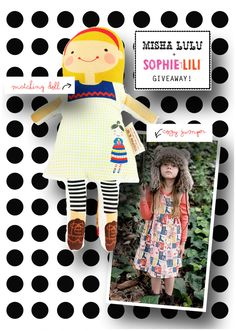GIVEAWAY   Sophie & Lili doll AND Misha Lulu dress!     click to enter.    Please pass the word!