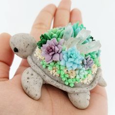 Succulent Turtles by Claybie Charms on Instagram, Etsy Restock Saturday July 29th @ 8pm EST Follow So Super Awesome on Instagram