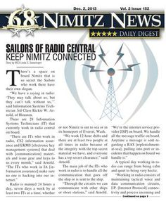 Nimitz News Daily Digest Dec. 2, 2013
