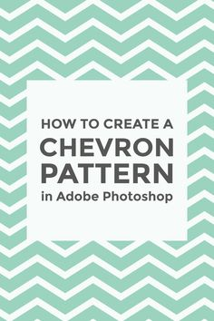 The chevron pattern is probably one of the most famous and trendy patterns out there. Learn how to make your own chevron pattern in Photoshop.