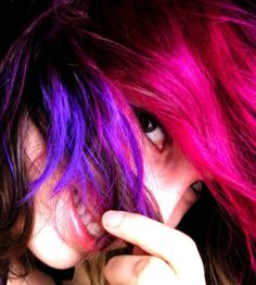 Anya Goy's Pink and Purple Hair
