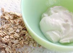 1 tbs oatmeal flour 1 tbs honey 2 tbs greek yogurt +crushed up aspirin