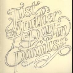 Lovely hand drawn type