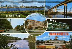 Terveisiä Varkaudesta #Varkaus #Maisemakortit #Postikortit #matkailu #Suomi #Finland Teenage Years, Back In Time, Old Toys, Vintage Postcards, Finland, Nostalgia, Old Things, Fair Grounds, Country
