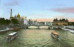 """""""Paris Exposition: Seine River, Paris, France, 1900"""" - http://www.brooklynmuseum.org"""
