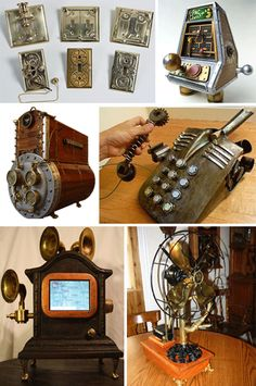 Steampunk Styling: Victorian Retrofuturism at Home | WebUrbanist - all sorts of cool steampunk gadgets