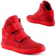 info for 7a088 17045 Herren Damen High Top Sneaker Basketball Sport Freizeit Schuhe Rot-2 EU 45   Amazon.de  Schuhe   Handtaschen