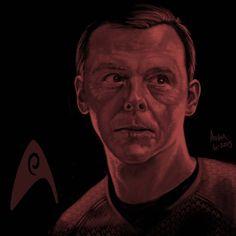 Star Trek portrait series 06a - Scotty - Pegg by jadamfox on DeviantArt