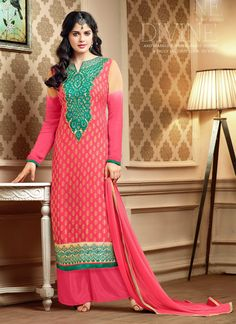 http://www.sareebuzz.in/salwar-kameez/excellent-pink-brasso-palazzo-designer-salwar-kameez-8789  Excellent Pink Brasso Palazzo Designer Salwar Kameez  Item Code: : 8789  Occasion : Festival Reception  Color : Hot Pink  Fabric : Brasso  Work : Embroidered Resham  For Inquiry Or Any Query Related To Product, Contact :- +91 9974 111 22