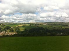 View of the lovely green West Yorkshire from The Fleece, Halifax