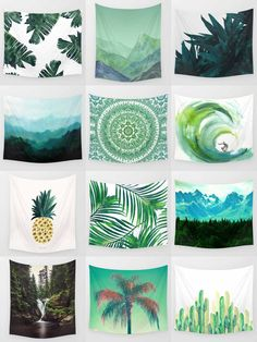 Green Tapestries - is home to hundreds of thousands of artists from around the globe, uploading and selling their original works as premium consumer goods from Art Prints to Thro Dream Bedroom, Home Decor Bedroom, Diy Home Decor, Bedroom Ideas, The Sims, Mandala Tapestry, Wall Tapestry, Tumblr Rooms, My New Room