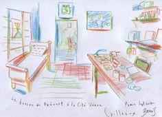 Visite dessinée de la maison de Jacques Prévert - France Inter
