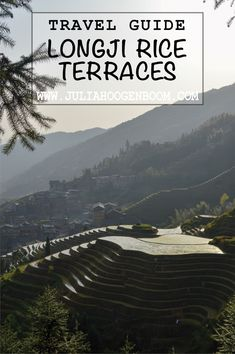 A complete guide for the Longji rice terraces (aka Dragon's backbone) in China. Travel by bus from Guilin, stay in Ping An village and hike around the area. In Plan, How To Plan, Rice Terraces, Guilin, Travel Guides, Travel Photos, Travel Photography, Around The Worlds, China