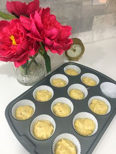 Banana muffins in the making
