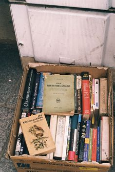 The only thing better than a new book is a box full of old books.