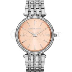 Michael Kors Watches Michael Kors montres Darci Rose & paillettes argent acier in. Swiss Watch Brands, Stylish Watches, Stainless Steel Bracelet, Or Rose, Rose Gold, Quartz Watch, Kebaya, Michael Kors Watch, Bracelet Watch