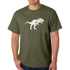 Los Angeles Pop Art Men's T-shirt - Tyrannosaurus Rex, Size: Medium