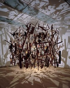 Cornelia Parker, Cold Dark Matter - one of the most beautiful things I've ever seen.