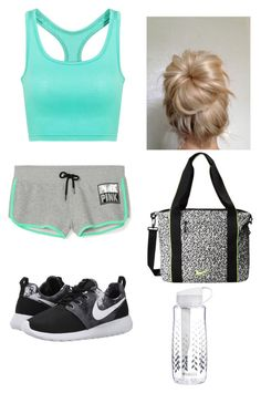 """going to dance practice"" by leilan45 � liked on Polyvore Dance Stuff, Swim Wear, Polyvore Outfits, Pretty Outfits, Swimming, Ootd, Workout, Shoe Bag, My Style"