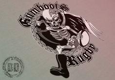 Gumboots Team Branding - Logo Design Newcastle - Dark Design Graphics   Graphic Design Newcastle