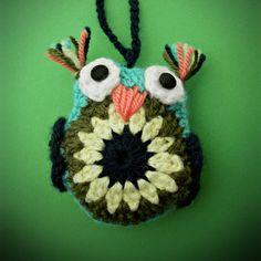 crochet amigurumi owl stuffed animal bird christmas tree ornament decoration by WiseFriday on Etsy