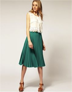 We are loving pleated skirts