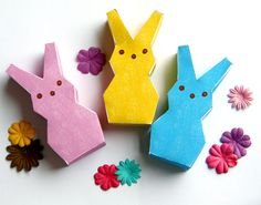 PEEPS boxes three colors, plus blank- free download!