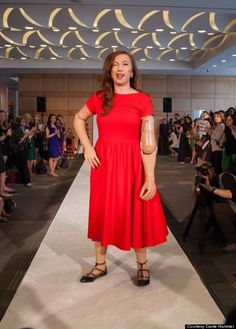 Karen Crespo modeling for Carrie Hammer's Role Models Not Runway Models fashion show on Friday, Sept. 5, 2014, at New York Fashion Week