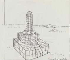 1977 MONUMEMENTO AI SUPERSTUDIO by Brunetto De Batté