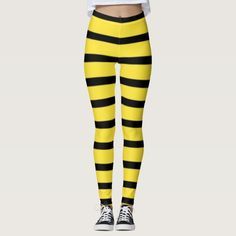 Ad: Feel as busy as a bee in these comfy leggings guaranteed to cause quite a buzz! #leggings #legs #bee #buzz #black #yellow #stripes #striped #comfy #comfortable Striped Tights, Patterned Tights, Cute Leggings, Black Leggings, Yoga Leggings, Yoga Pants, Yellow Stripes, Black N Yellow, Black Bumble Bee