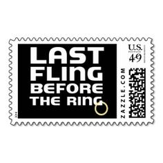 Last Fling Bachelor Party Custom Postage Stamps. This is a fully customizable business card and available on several paper types for your needs. You can upload your own image or use the image as is. Just click this template to get started!