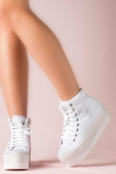 JEFFREY CAMPBELL SNEAKERS - HOMG WHITE WASHED Favelas 71c0770136e