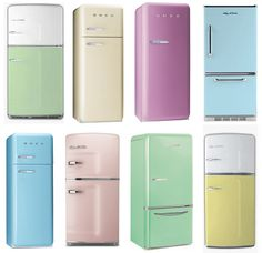 Retro fridges by Big Chill, Smeg and Northstar