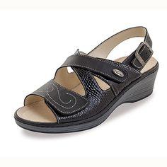 Sandalia de piel Vigo Negro