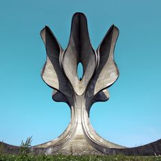 Spomenik Stone flower by Bogdan Bogdanović 1966 / Jasenovac, #Croatia #spomenik / Jasenovac, Croatia CYAN on Behance
