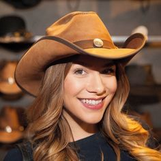 Take them by storm in this hat! Bringing a handcrafted pinch on the crown that gives you that carefree Double G Western appeal, the Cyclone leather cowboy hat is available in three distinctive colors that will please any personality and match your mood no matter which way the wind blows. Leather Cowboy Hats, Cowgirl Hats, Leather Accessories, Fashion Accessories, Hat Hooks, Red Carpet Event, Hat Making, The Crown, Leather Bag