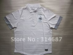 Wholesale TOP Thailand Quality 12-13 France home White soccer jersey,Soccer Shirts,embroidered logo,Dry-Fit on AliExpress.com. $95.00