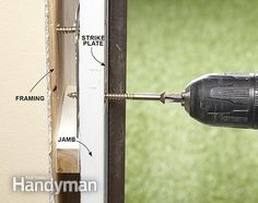 10 Safe Home Security Tips: The best home security tip for doors is to replace short strike plate screws with 3-in. ones. Get the tips: http://www.familyhandyman.com/home-security/safe-home-security-tips/view-all